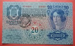 FIUME Italia Austria Hungary Croatia 20 Kronen ND 1918. Seal On Hungary (1) - [ 3] Militaire Uitgaven