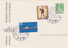 Berlin Privat-PK Zur Hamburger Briefmarkenwerbeschau 1957 (R1037) - [5] Berlin