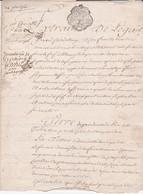 GENERALITE De BRETAGNE - DEUX SOLS - 1760 - 1 FEUILLET  (Château Du) BOISJOURDAN (Bouère) - Seals Of Generality
