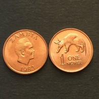 Sambia Münzen Zambia 1 NGWEE UNC RANDOM YEAR COIN AFRIKA CURRENCY Aardvark - Sambia