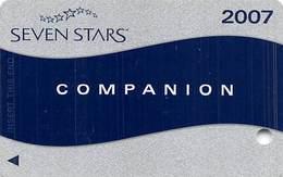 Harrah's Casino Multi-Property - TR Seven Stars Companion Slot Card @2007 / Signature Strip / BLANK - Casino Cards