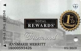 Harrah's Casino - 1st Anniv Harrah's Chester Diamond Slot Card - Casino Cards