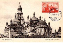 """"""" CATHEDRALE DE PERIGUEUX """" Sur Carte Commémorative De 1953.N° YT 774. Voir Les Scans Parfait état. - 1950-59"""