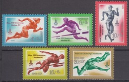 Russia, USSR06.02.1980 Mi # 4921-25; Moscow Summer Olympics (XII) MNH OG - Nuevos
