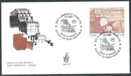 2007 ITALIA FDC VENETIA 1441 SACRA DI SAN MICHELE TORINO NO TIMBRO ARRIVO - VT - 1946-.. République