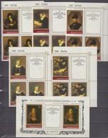 USSR 25.03.1983 Mi # 5259-63 Zf CORNER NUMBERED BLOCKS Of 4 Bl 163, Rembrandt's Works In The Hermitage Museum MNH OG - Nuovi