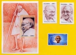 UGANDA 1997 Stamps / Souvenir Sheet And 2019 Stamp Issue GANDHI Anniversary; Postage W/ 2019 Gandhi Stamps! OUGANDA - Uganda (1962-...)