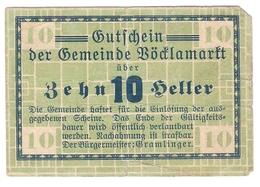 Österreich Austria Notgeld 10 HELLER FS1117Ia VOCKLAMARKT /157M/ - Autriche