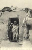 EGYPTIAN TYPES AND SCENES  Bisharin Women At Home  Femmes Bisharines Devant Leur Habitation RV - Egypte