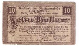 Österreich Austria Notgeld 10 HELLER FS37Ib AMSTETTEN /159M/ - Autriche
