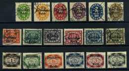 DEUTSCHES REICH 1920 Nr D34-51 Gestempelt (109683) - Servizio