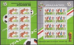 USSR25.05.1990 Mi # 6088-89 Kleinbogensatz (2); 1990 FIFA World Cup Italy MNH OG - Nuevos