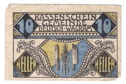 Österreich Austria Notgeld 10 HELLER FS121 WAGRAM /164M/ - Autriche