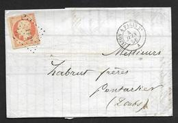 Lettre Avec Cachet Ambulant LYON A PARIS-Losange Des Ambulants Sur N°16 - Marcophilie (Lettres)