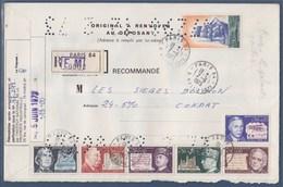 = Pli Recommandé Institut Propriété Industrielle 1667 1668 1669 1670 1689 1690 Et 1717 Paris 7.6.73 - Variedades Y Curiosidades