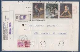 = Pli Recommandé Institut Propriété Industrielle 1672 1691 1702 1703 Paris 16.2.73 - Variedades Y Curiosidades
