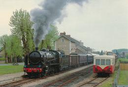 Richelieu (37) Autorail X5506 & Locomotive A Vapeur 141 C 100 - France