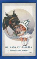 Petite Fille Et Son Cheval   Il  Mange Mes Fleurs       Illustrateur:  RIGHT    écrite En 1919 - Right