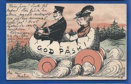 God PASK   Voiture Fait Avec Un Oeuf     Carte Suédoise      écrite En 1903 - Sweden