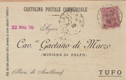 Roccadevandro. 1899. Annullo Grande Cerchio ROCCADEVANDRO, Su Cartolina Postale - 1878-00 Umberto I