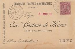 Vairano Patenora. 1899. Annullo Grande Cerchio VAIRANO PATENORA, Su Cartolina Postale - 1878-00 Umberto I
