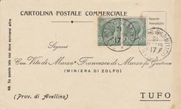 San Potito Sannitico. 1917. Annullo Grande Cerchio SAN POTITO SANNITICO, Su Cartolina Postale - Storia Postale
