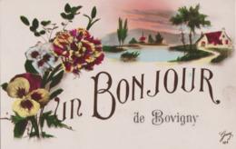 Bonjour De BOVIGNY ( Gouvy ) Cachet Postal 1923 - Gouvy