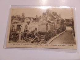 BERGUES BOMBARDEMENT  Mai Juin 1915 UN COTE DE LA PLACE GAMBETTA - Bergues