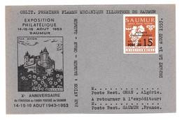 FRANCE - GREVE DE SAUMUR - TIMBRE SUR CARTE COMMEMORATIVE - Strike Stamps