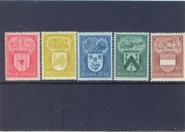 Nrs. 743/747 Postgaaf ** MNH 19 Côte - Belgique