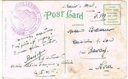 CARTE D'OMAHA NEBRASKA EN FRANCHISE TAMPON MISSION FRANCAISE MILITAIRE EN SIBERIE 28 NOV 1918 - Postmark Collection (Covers)