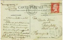 175 PASTEUR  SEUL SUR CPA POUR LA HONGRIE AVEC CACHET D'ARRIVEE - 1921-1960: Moderne