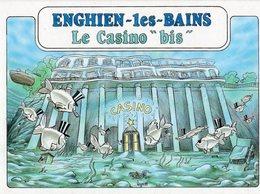 VEYRI  BERNARD  ENGHIEN  LES BAINS  LE CASINO BIS 1ére  RENCONTRE  DES ARTISTES  JUIN 1989  -  Tirage Limite 3000 EX - Veyri, Bernard