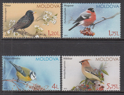 2015 Moldova Birds Oiseaux Complete Set Of 4  MNH - Moldavie