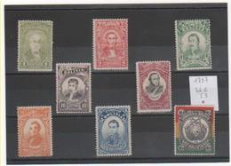 BOLIVIE 1897 YT N° 46 à 53 Neufs* Trace De Charnière - Bolivie
