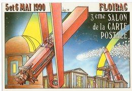 VEYRI  BERNARD  FLOIRAC  3éme SALON DE LA CARTE POSTALE 1990  -  Tirage Limite 3000 EX - Veyri, Bernard