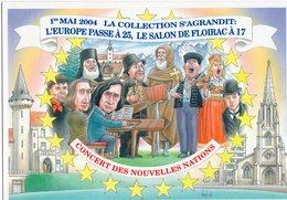 VEYRI BERNARD  FLOIRAC CONCERT DES NOUVELLES NATIONS 17éme SALON DE LA CARTE POSTALE 2004  - PIRATE Tirage Limite 300 EX - Veyri, Bernard
