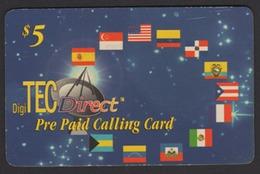 USA DigiTec Direct Pre Paid Parabola Spazio Bandiere Space Flags Espacio Banderas SCD00021 - Espace