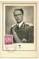 BELGIQUE => Carte Maximum - Beaudoin 1er - Woluwe - 1956 - Maximum Cards