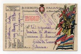 Italia - 18.11.1918 - Cartolina In Franchigia Del Regio Esercito - Zona Di Guerra - Timbro Censura - (FDC29423) - Guerra 1914-18