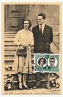 BELGIQUE => Carte Maximum - Roi Beaudoin Et Reine Fabiola - 1950 - Namur - Maximum Cards