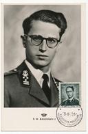 BELGIQUE => Carte Maximum - Roi Beaudoin 1er - Exposition Mexicaine - BRUXELLES - 1951 - Maximum Cards