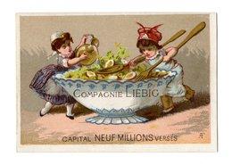 Rare Chromo Liebig S15, Enfants Préparent Une Salade - Liebig
