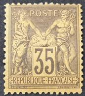 Sage N° 93 Neuf * Gomme D'Origine à 13,5% De La Cote  TB - 1876-1898 Sage (Type II)