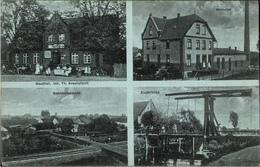 ! 1916 Alte Ansichtskarte Aus Plate Bei Schwerin , Gasthof, Molkerei, Zugbrücke - Schwerin