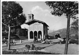 Madonna Del Ghisallo (Como). Chiesetta. Moto E Vespa Faro Basso. - Como