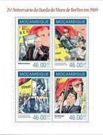 Mozambique  2014  Beatles  Chutte Mujr De Berlin Mikhail GORBATCHEV Ronald REAGAN MNH - History