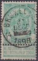 "(93) Cat Nr: 56   "" Bruxelles 14 "" -R-  ( 2 Scan ) - 1893-1900 Fine Barbe"