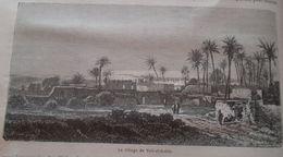 Le Village De Tell-el -Kebir -Suez Canal -  Egypt  Engraving-gravure,  1863 TDM1863.2.8 - Estampes & Gravures