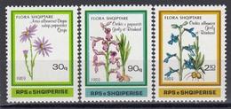 Albania 1989 - Flowers, Mi-Nr. 2395/97, MNH** - Albanie
